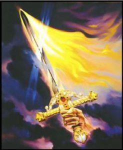 L'épée de feu lors du jugement des âmes