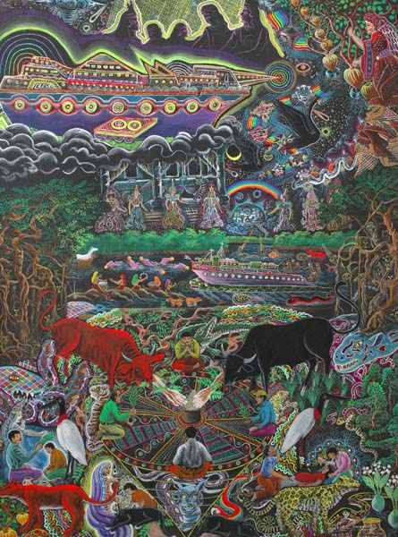 Prise d'ayahuasca chez les shipibo du Pérou