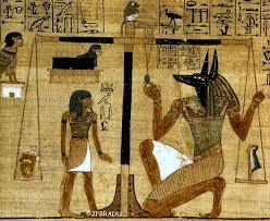 Le défunt devant Anubis