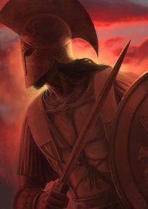 Arès, amant d'Aphrodite et dieu de la guerre