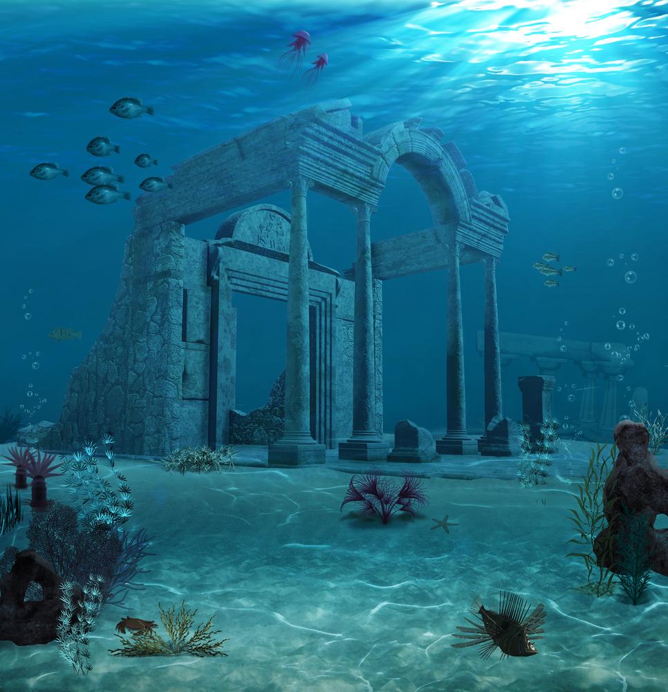 Sunken ruins of Atlantis