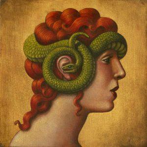 Cassandre, le serpent et le don de prophétie