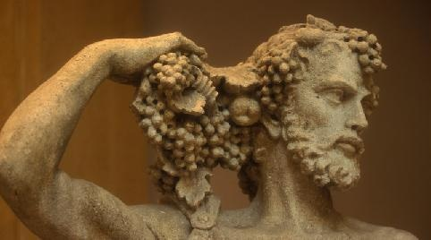 Dionysos, dieu du vin est de la vigne