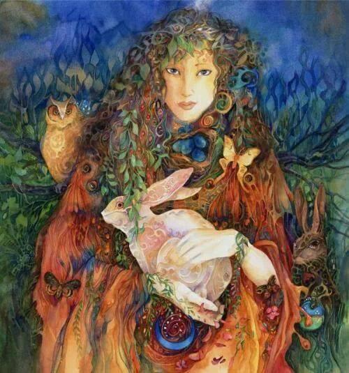 Eostre, déesse anglo-saxonne du printemps