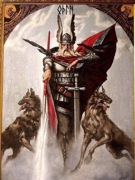 Odin Wotan, Geri et Freki
