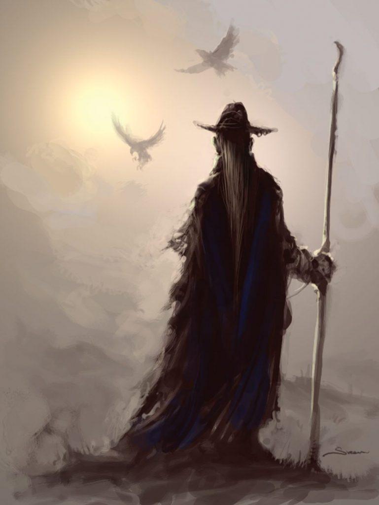 Wotan et ses corbeau