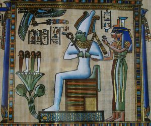 Osiris et ses sœurs Isis et Nephthys