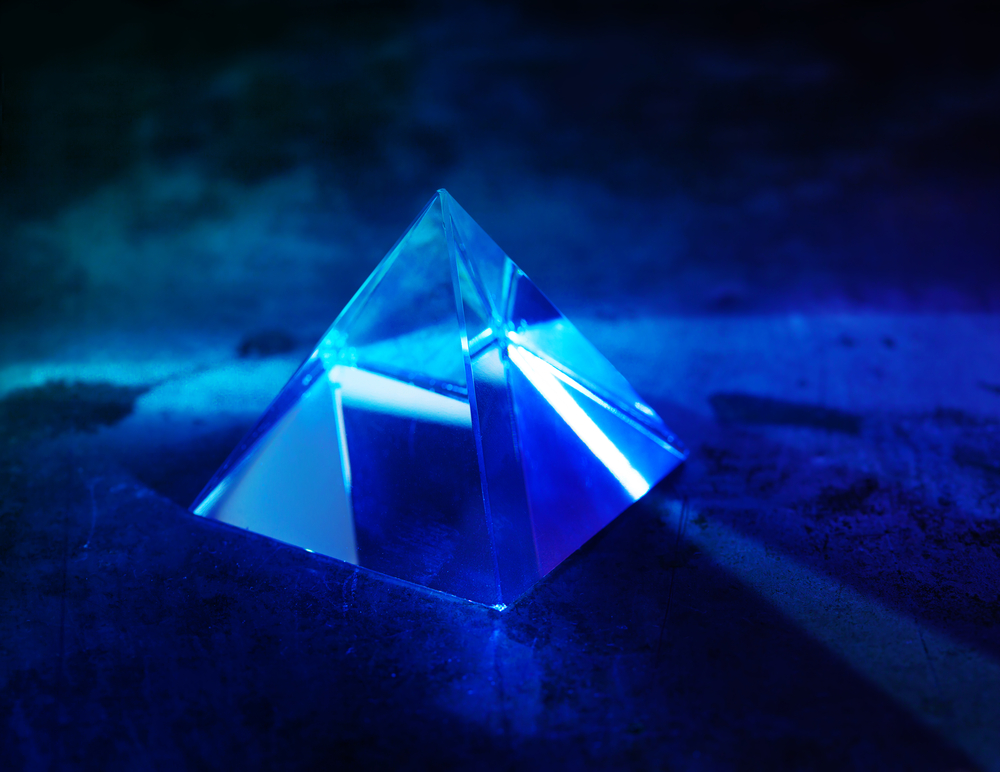 Blue cristal pyramid