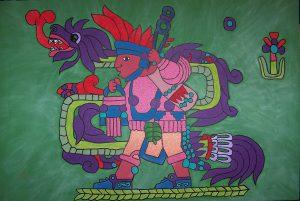 Le dieu du vent et de la création, serpent à plumes,