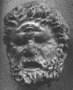 Cyclope, à l'œil unique, fils de Gaïa et d'Ouranos