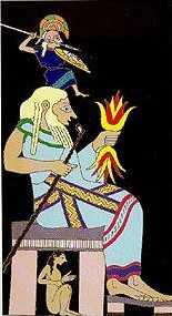 Métis sous le trône de Zeus