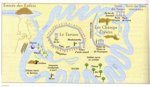 Carte des enfers et des fleuves infernaux