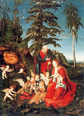Les sapins chez Cranach l'Ancien