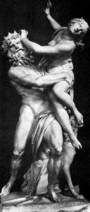 Perséphone et Hadès, dieu des enfers