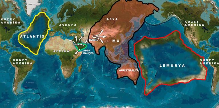 Les continents oubliés et disparus