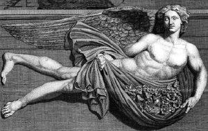 Zéphyr, dieu du vent d'ouest